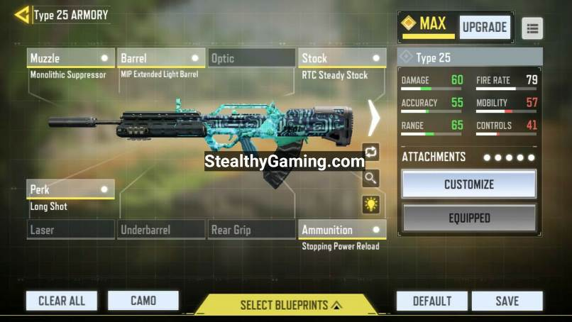 COD Mobile Type 25 Loadout