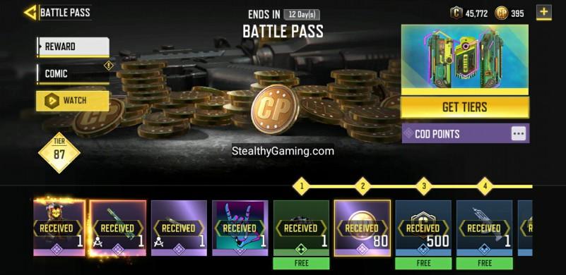 COD Points Battle Pass
