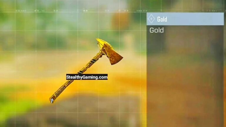 Call of Duty Mobile Gold Axe