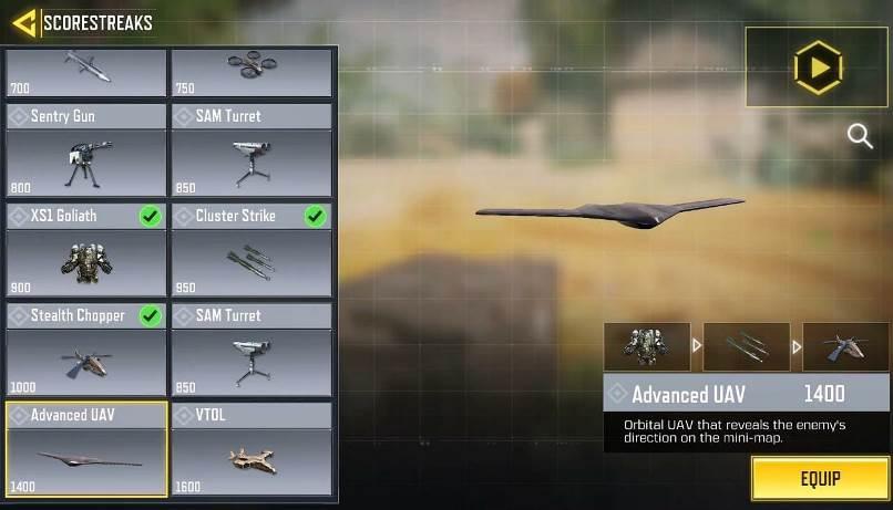 Call of Duty Mobile scorestreaks