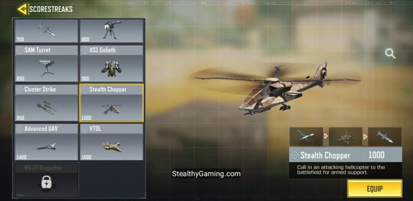 Stealth Chopper Scorestreak