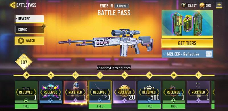 Battle Pass Weapon Skins