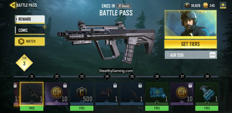 AGR 553 FREE BATTLE PASS REWARD TIER 21