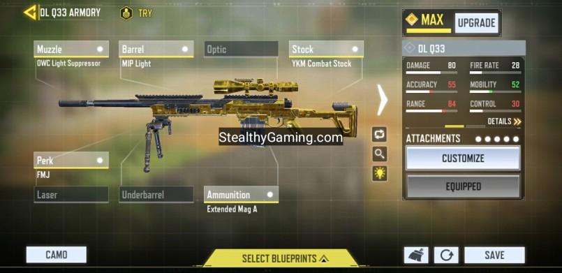 Heaven dlq 33 gunmsith weapon build