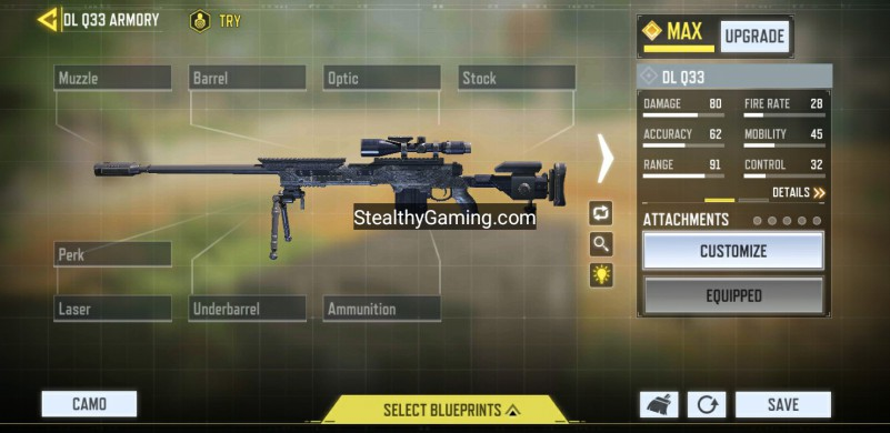 Heaven dlq no attachments gunsmith loadout dlq33