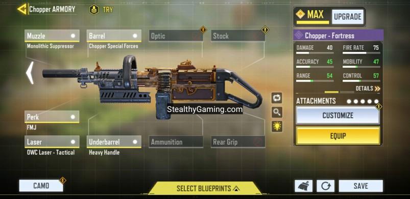 No recoild chopper weapon build gunsmith