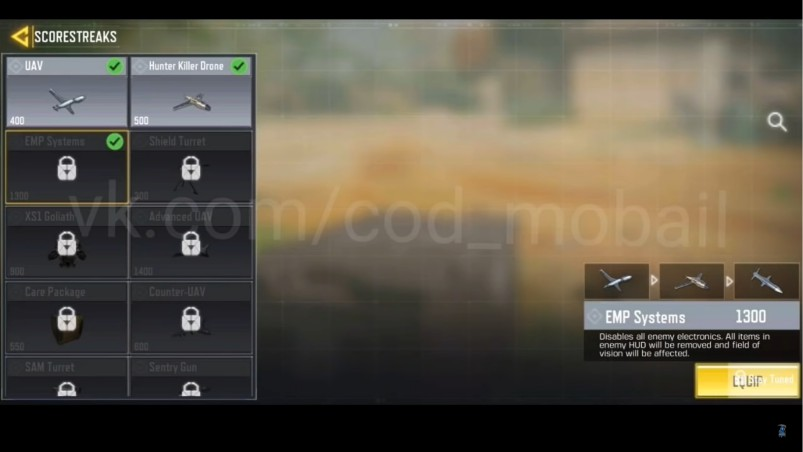 Season 13 scorestreak cod mobile