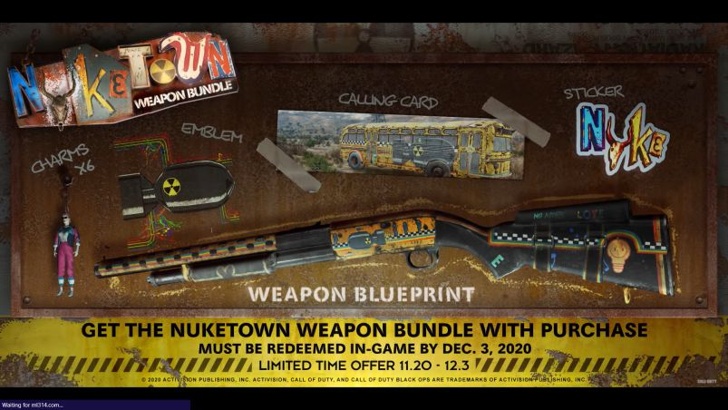 NUKETOWN '84 WEAPON BUNDLE DLC