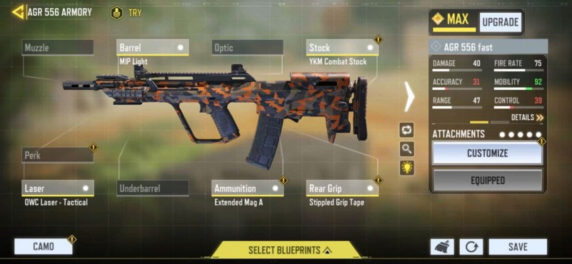 AGR 556 SMG FAST MOBILITY LOADOUT