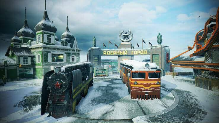 COD Mobile remastered nuketown map snow