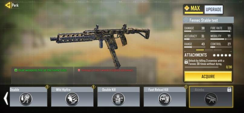 unlock Akimbo Perk in Call of Duty Mobile