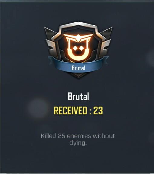 Brutal medal cod mobile