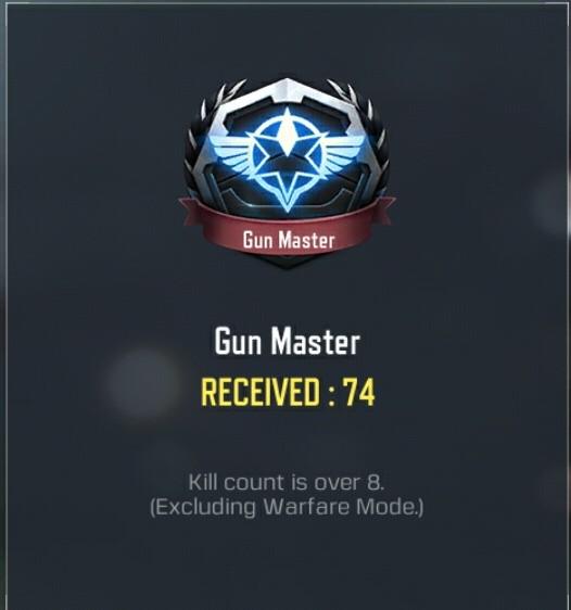 Gun master medal br cod mobile