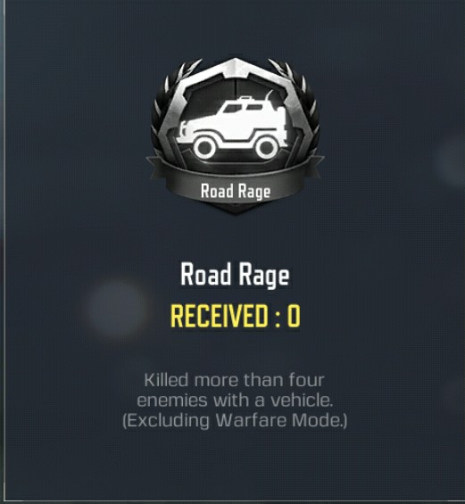 Road Rage medal cod mobile battle royale seasonal event