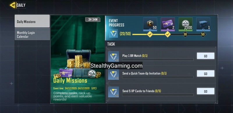 cod mobile daily mission