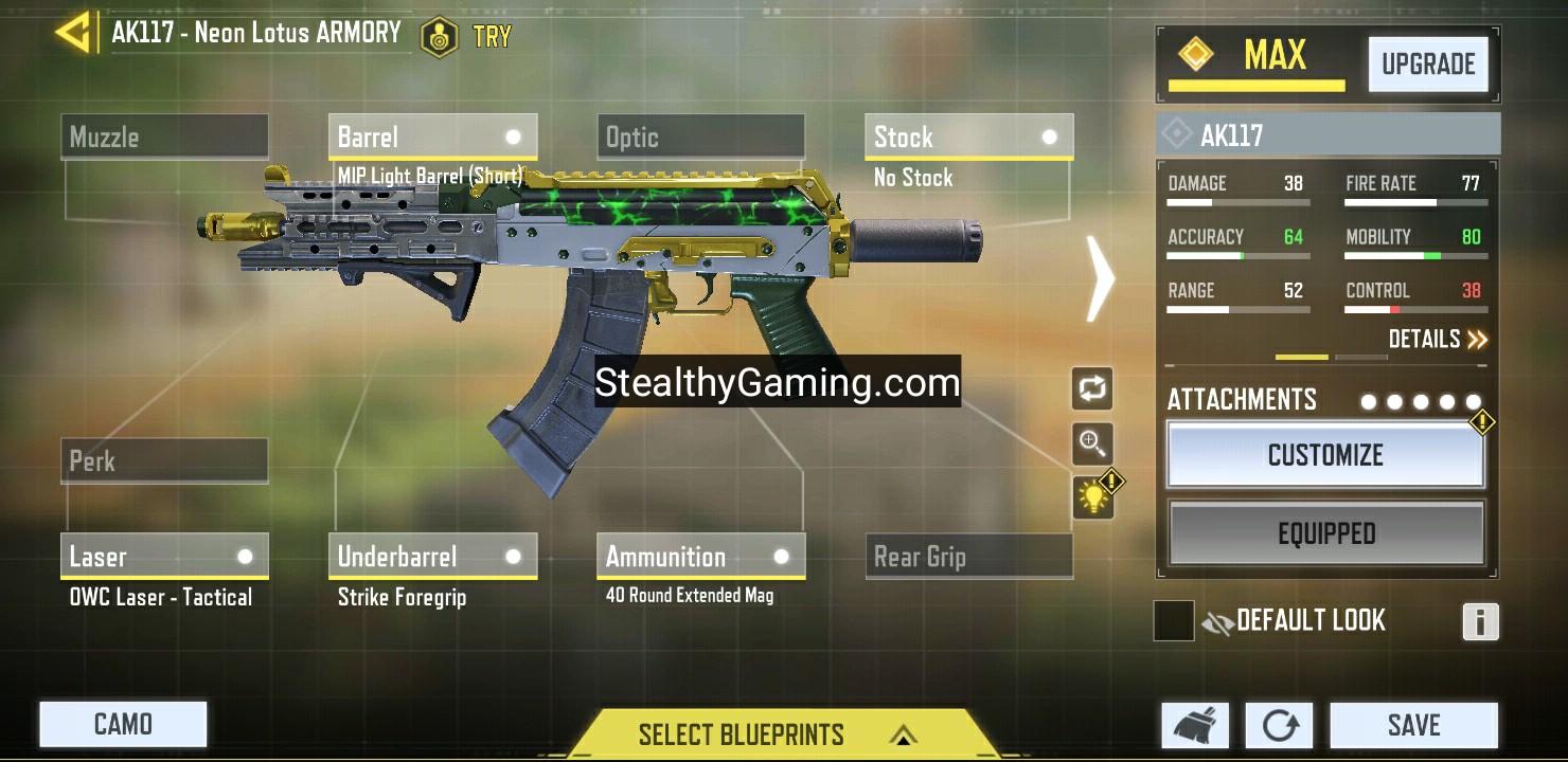 cod mobile ak117 gunsmith high mobility