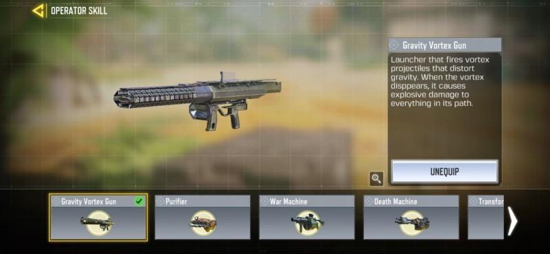 Gravity Vortex gun season 13 operator skill
