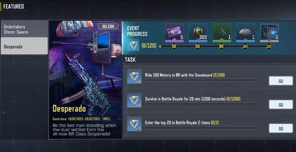 How to get Desperado class in COD Mobile Battle Royale