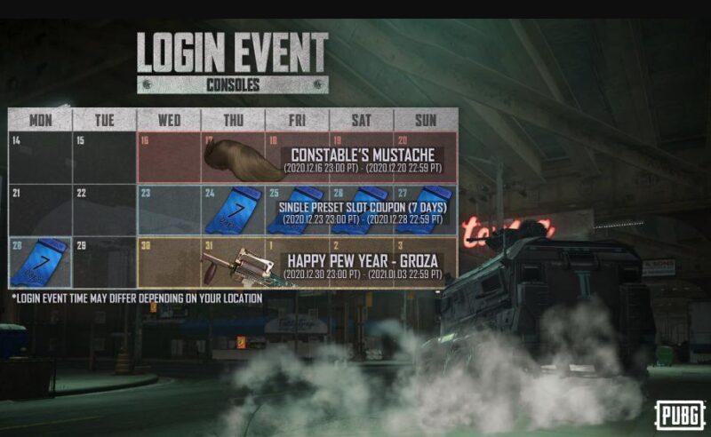 PUBG Mobile: New Login Event