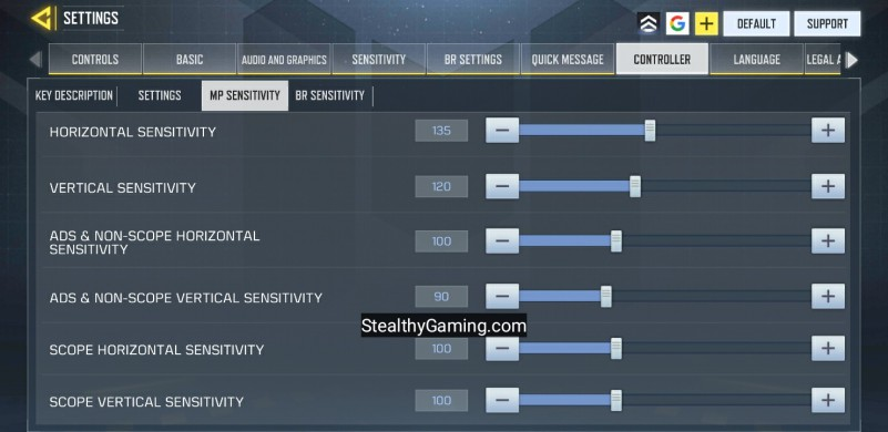 COD MOBILE BEST CONTROLLER SETTING