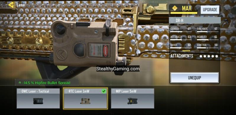 rtc 1m2 laser cod mobile