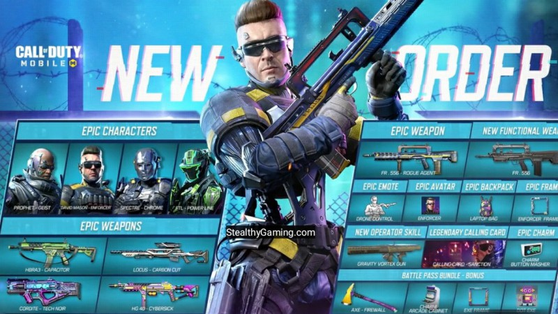 new order battle pass cod mobile