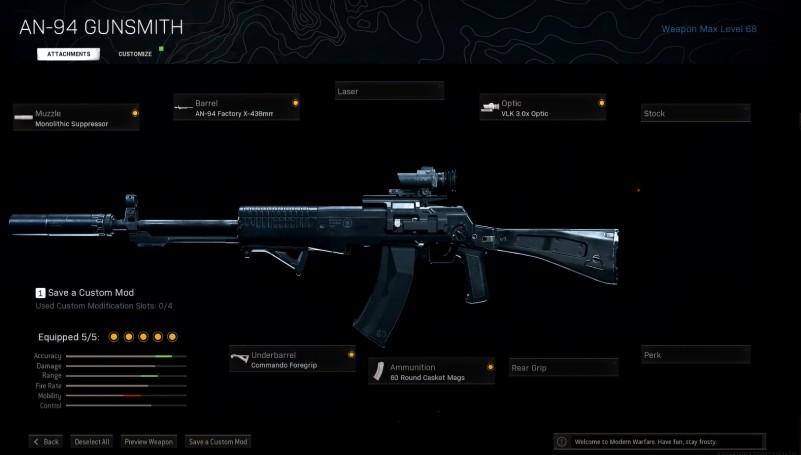 JackFrags AN94 Gunsmith Attachments