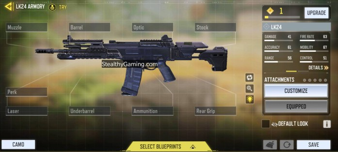 LK24 Base Weapon Stats