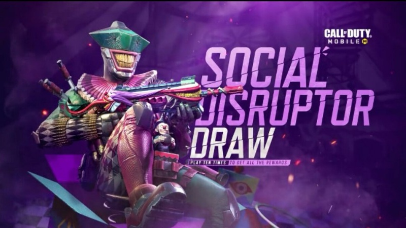 gunzo social disruptor draw cod mobile