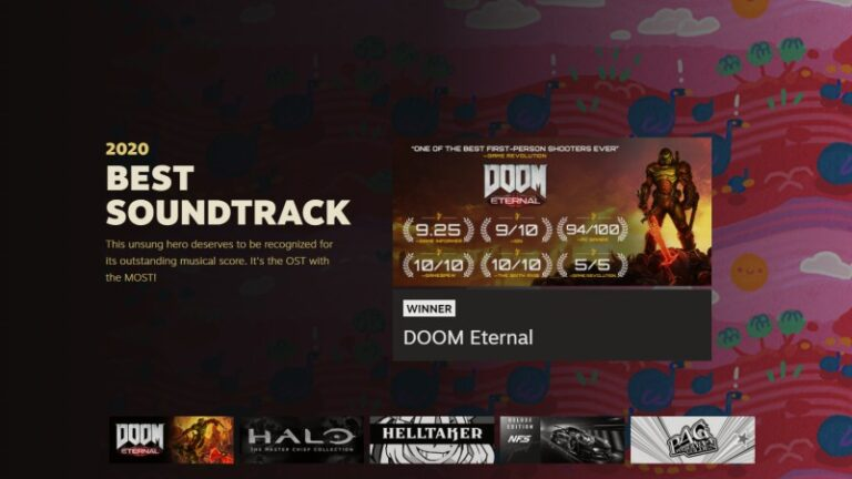 doom eternal best soundtrack award