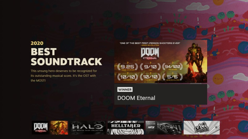 doom eternal best soundtrack award