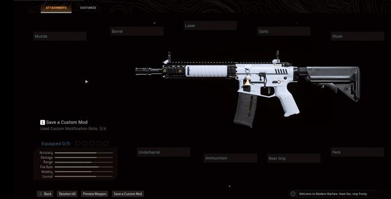 cod warzone m4 base variant