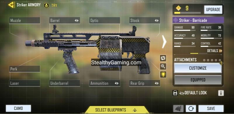striker no attachments base variant
