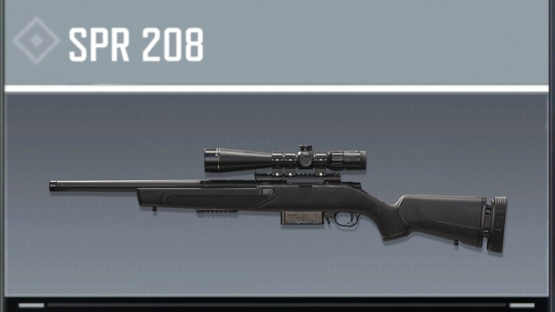 SPR 208 Marksman rifle season 2 cod mobile