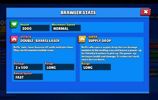 Brawl Stars Colonel Ruff Stats