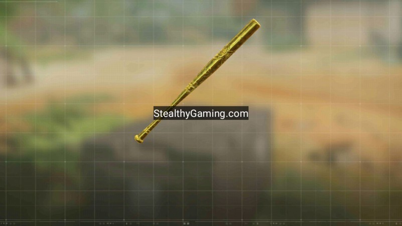 cod mobile gold camo baseball bat melee weapon