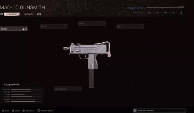 Base weapon Stats