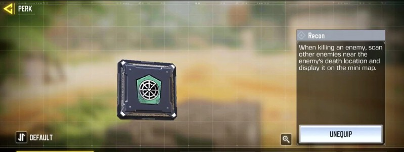 recon perk season 2 cod mobile