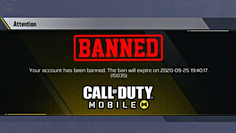 COD Mobile Account Ban