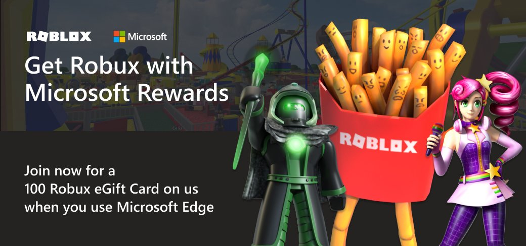 Get Robux with Microsoft rewards Roblox