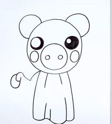 Piggy Roblox character drawing