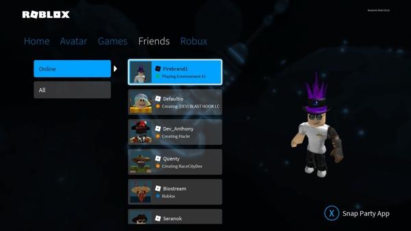 Accept friend request on Roblox xbox